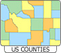 View US Counties details